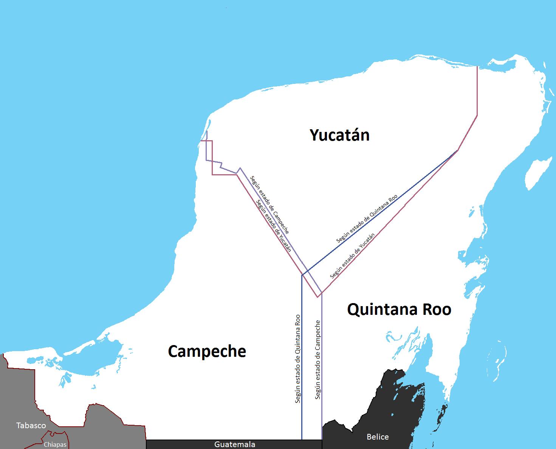 Conflicto_Limitrofe_Yucatan_Campeche_Quintana_Roo