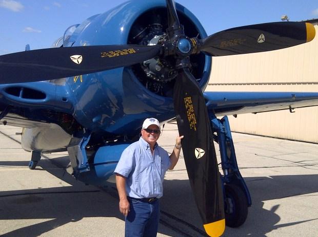 El piloto estadounidense Fred Cabanas, quien se dedicaba a las acrobacias aéreas.