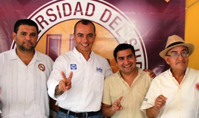 CAMPAÑAS: Entrega Julián Aguilar garantías por escrito que cumplirá como Diputado