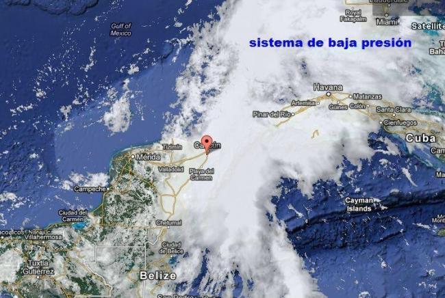 Podría el mal tiempo que afecta al norte de QR derivar en depresión tropical