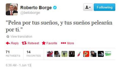 SE PROYECTA @BETOBORGE: Mientras QR avanza a la crisis, el Gobernador se duerme y se levanta citando a Pablo Escobar