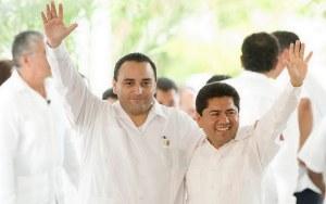 El Gobernador Roberto Borge y Filiberto Martínez.