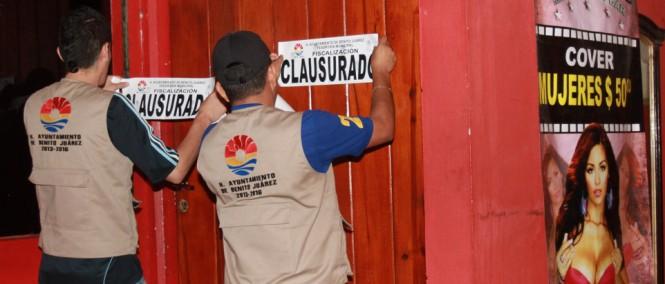 Clausuran 3 antros en Cancún por no pagar horario extra