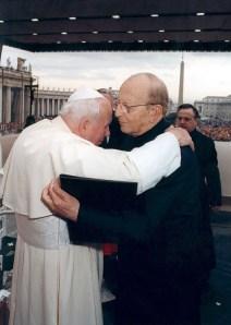 Juan Pablo II y Marcial Maciel.