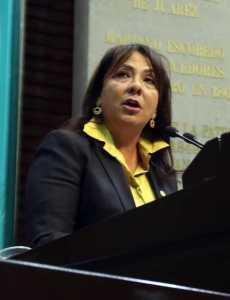 La diputada Graciela Saldaña.