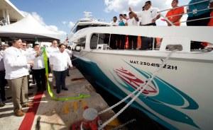 Apenas el pasado lunes, el Gobernador Borge inauguró la nueva naviera.