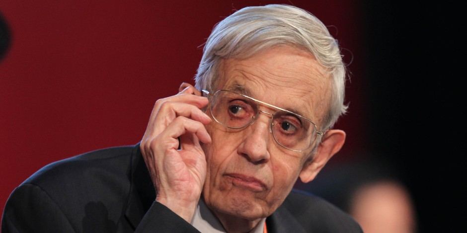 American mathematician John Forbes Nash looks onduring day one of the 2011 Nobel Laureates Beijing Forum at the National Museum on September 28, 2011 in Beijing, China.