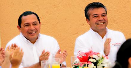 Román Quian y Mauricio Góngora. Los dos, como alcaldes de Solidaridad, favorecieron al Por Esto! El primero inició el trámite para 'regalarle' un terreno de 25 millones de pesos del patrimonio municipal de Solidaridad, y el segundo completó la operación y cobró los beneficios.