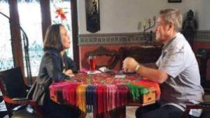 Florinda Meza durante la entrevista.