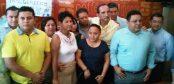 Rueda de prensa de Cristina Torres, alcaldesa electa del municipio de Solidaridad.