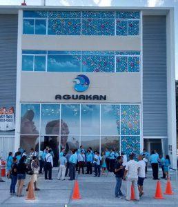 Inauguración del nuevo edificio de Aguakán en Playa del Carmen.